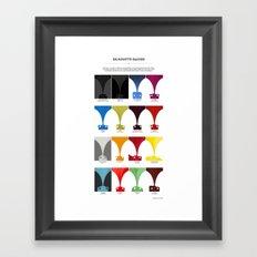 Silhouette Racers Framed Art Print