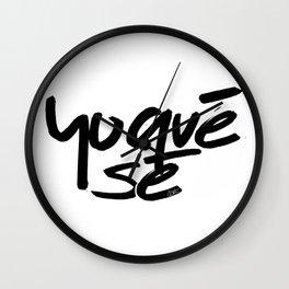 """Yoquésé"" [Copyright] Mar Cantón, 2017 Wall Clock"