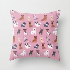 LATIN AMERICAN DOGS Throw Pillow