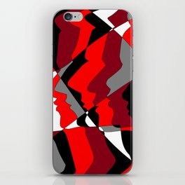 Profiles in Red, Maroon, Black, Gray and White iPhone Skin
