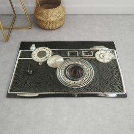 Vintage Range finder camera. Rug