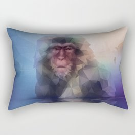 Macaque (Low Poly Multi I Snow Monkey) Rectangular Pillow