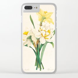Flower Color Pencil Hand Drawing Clear iPhone Case