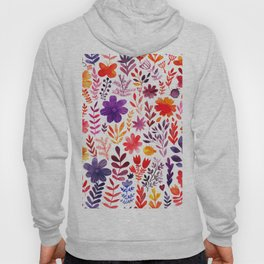 Seamless watercolor wave hand-drawn pattern, organic waves background Hoody