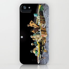 Picnic with Friends, a moon collage iPhone Case
