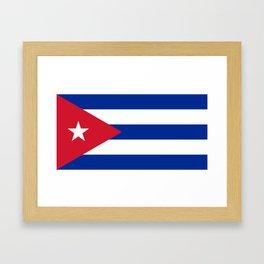 Flag of Cuba Framed Art Print