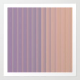 Lavender and Neutral Color Vertical Stripes Art Print
