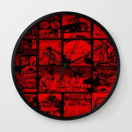 RED - Anne Frankenstein Book I - Resurrection  Wall Clock