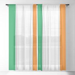 Irish Flag - Flag of Ireland Sheer Curtain