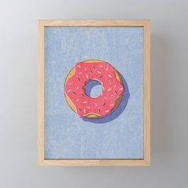 FAST FOOD / Donut Framed Mini Art Print