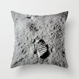 Apollo 11 - First Footprint On The Moon Throw Pillow