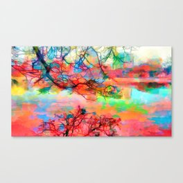 At peace at the end of the day Canvas Print