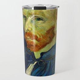 Vincent Van Gogh Self Portrait With Palette Travel Mug