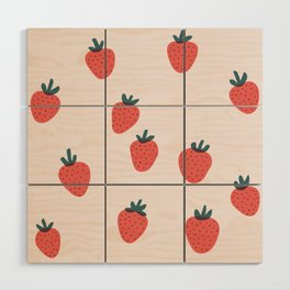 Strawberries Wood Wall Art