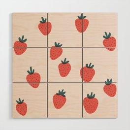 Strawberries Wood Wall Art