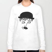 charlie chaplin Long Sleeve T-shirts featuring Chaplin  by Sardine