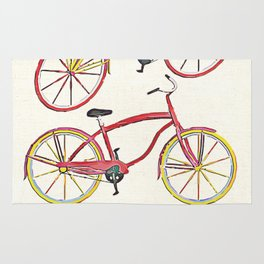 Illustration Bicycle Low Poly Style Rug