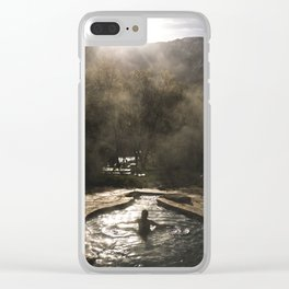 Sunrise Relaxation Clear iPhone Case