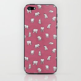 Indian Baby Elephants in Pink iPhone Skin