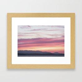 Sunset Layer Cake Framed Art Print