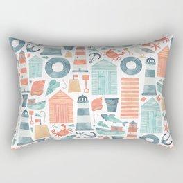 Nautical Watercolour Pattern! Rectangular Pillow