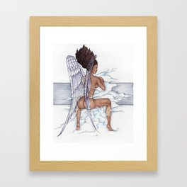 Afro Angel Framed Art Print