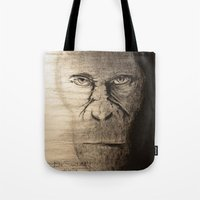 ape Tote Bags featuring Ape  by Shuchita