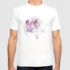 circles - brothers MEDIUM White Mens Fitted Tee