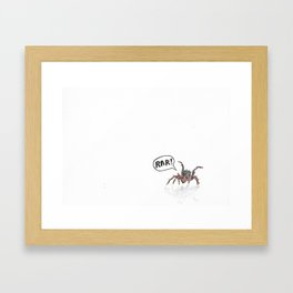 """""""Scary"""" Spider in Watercolor Framed Art Print"""