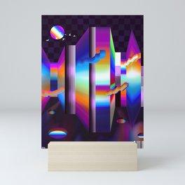 colorful labyrinth Mini Art Print