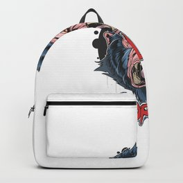 Gorilla Angry Face Artwork Backpack