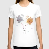 globe T-shirts featuring Cats Globe by Esther Ilustra