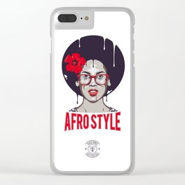 Afro Style II Clear iPhone Case