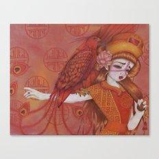 Huo: Vermillion Bird Canvas Print