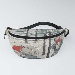 Elves in Snow, 19th Century Fanny Pack