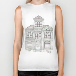 Green Italianate Victorian Biker Tank