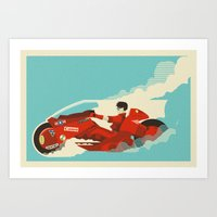 akira Art Prints featuring Akira by Danny Haas