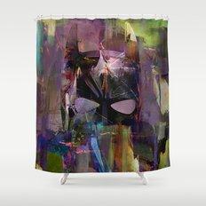Bat Abstract Man  Shower Curtain