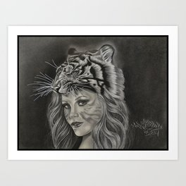 Tiger Girl Art Print