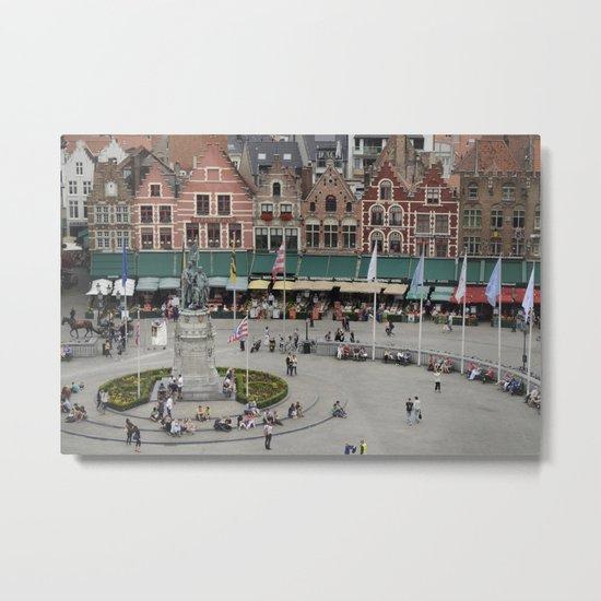 Bruges Main Square Metal Print