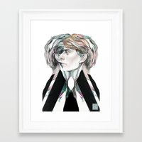 gray Framed Art Prints featuring Gray by Chen-Long Chung