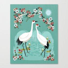 Cranes by Andrea Lauren Canvas Print