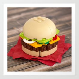 Gourmet Burger Art Print