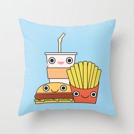 Happy Snacks Throw Pillow