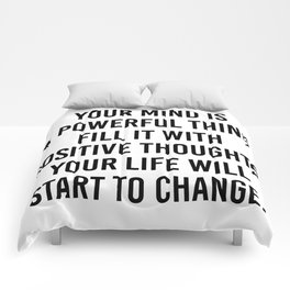 your life will start to change Comforters