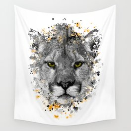 Puma splatter painting Wall Tapestry