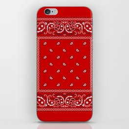 Paisley - Bandana - Red - Southwestern - Boho iPhone Skin