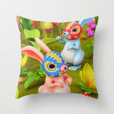 Lucha Brothers Throw Pillow