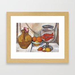 Still Life with Goldfish,  Paula Moderohn Becker Framed Art Print