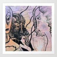 women Art Prints featuring women by Bunny Noir